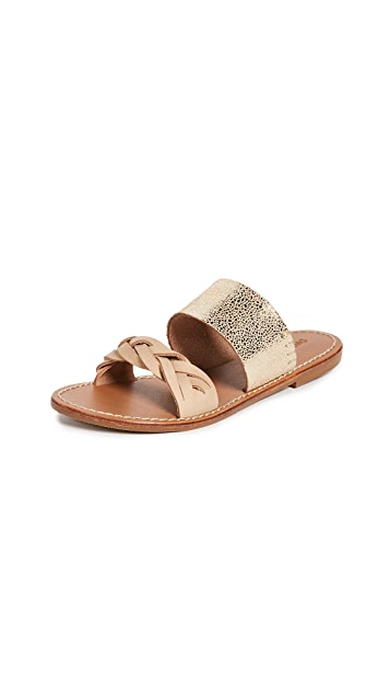 Soludos Metallic Braided Slides