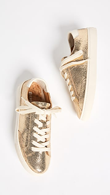 Soludos Metallic Lace Up Sneakers