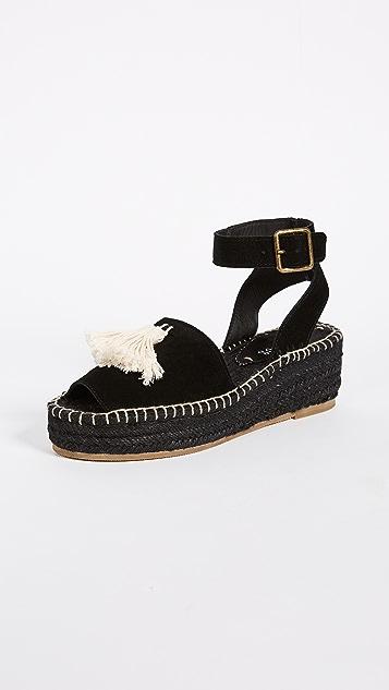 Soludos Peep-Toe Platform Sandals