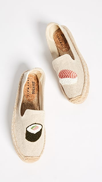 Soludos Sushi Platform Smoking Slippers