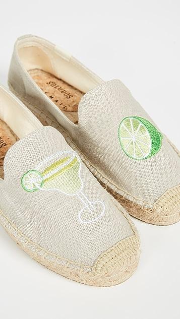 Soludos Margarita Platform Smoking Slippers
