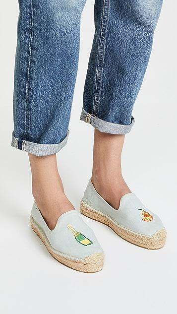 Soludos Mimosa Platform Smoking Slippers