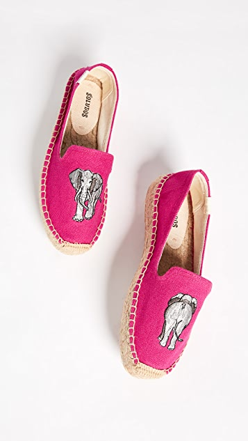 Soludos Elephant Platform Smoking Slippers