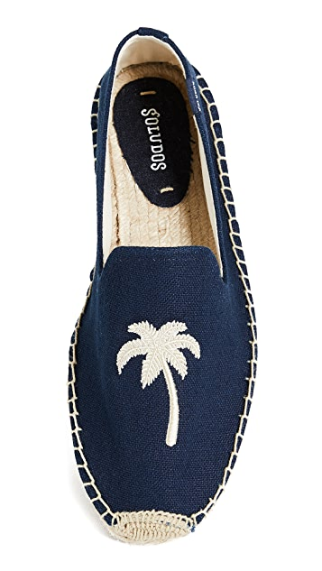 Soludos Palm Tree Smoking Slippers