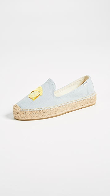 Lemons Smoking Slippers by Soludos