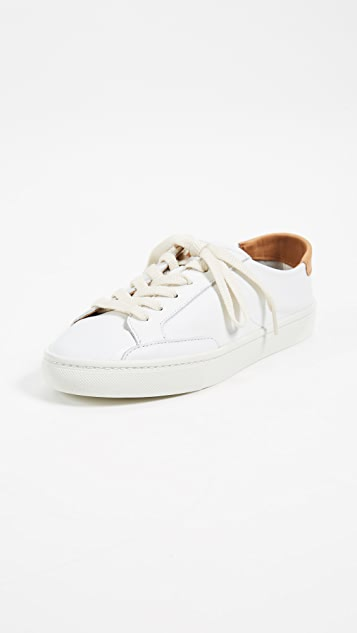 Soludos Ibiza Classic Lace Up Sneakers - White