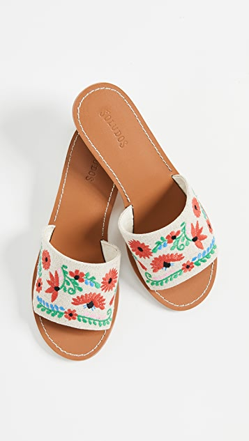 Soludos Ibiza Embroidered City Sandals