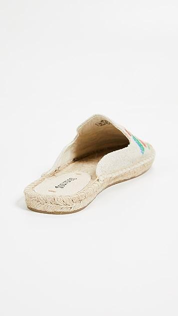 Soludos Туфли без задников Ibiza с вышивкой