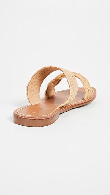 Soludos Raffia Braided Slide Sandals