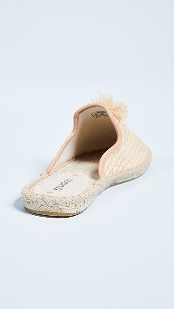Soludos 草编穆勒鞋