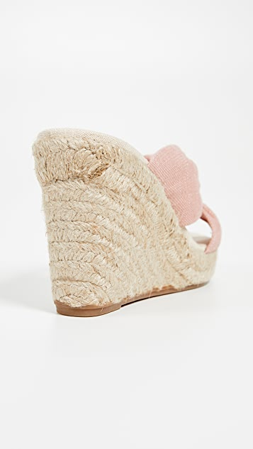 Soludos Knotted Wedge Espadrilles