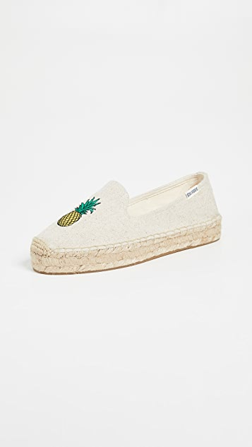 Soludos Pineapple Smoking Slippers