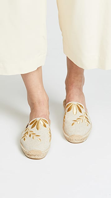 Soludos Embroidered Mules