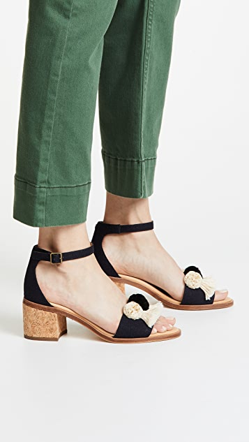 Soludos Capri Pom Pom Sandals