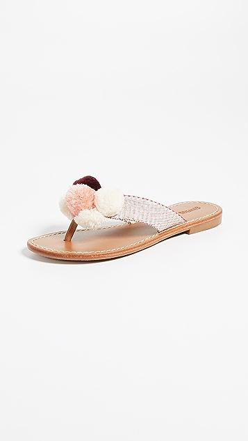 Soludos Capri Pom Pom Flip Flops