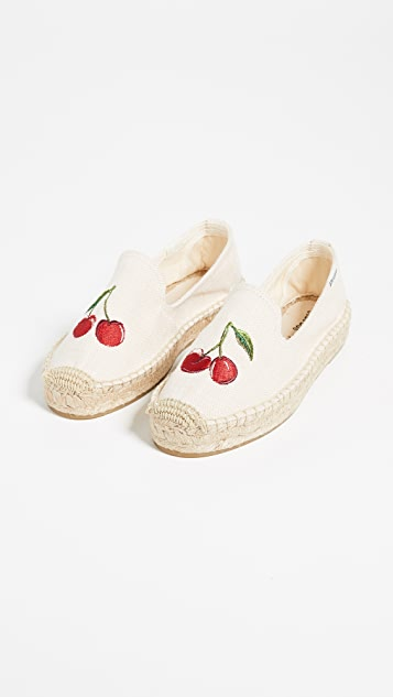 Soludos Cherries Smoking Slippers