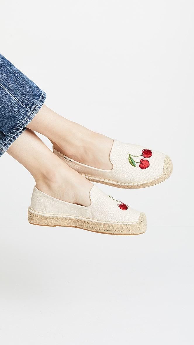 Soludos Cherries Smoking Slippers