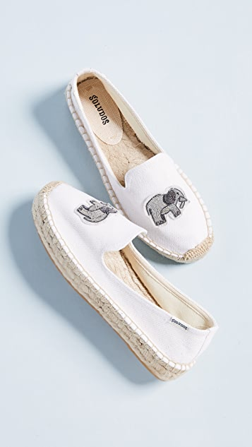 Soludos Elephant Beaded Smoking Slippers