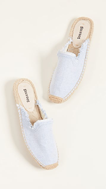 Soludos Frayed Mules