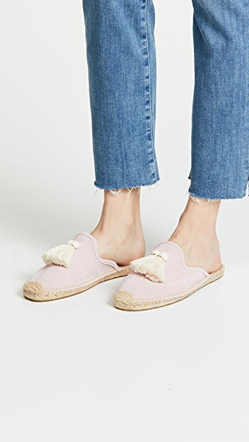 Tassel Suede Mules by Soludos