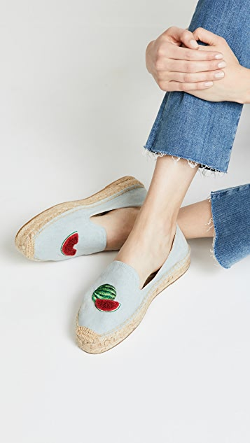 Soludos Watermelons Smoking Slippers