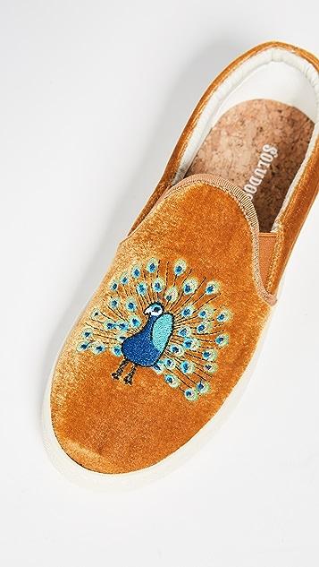 Soludos Velvet Peacock Sneakers