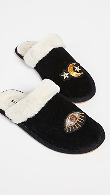 Soludos Celestial Cozy Slippers - Black