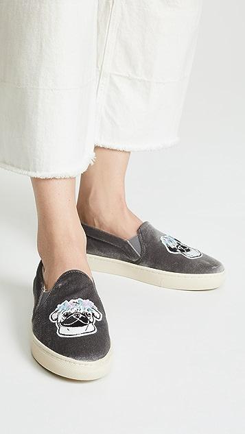 Soludos 花朵哈巴狗运动便鞋