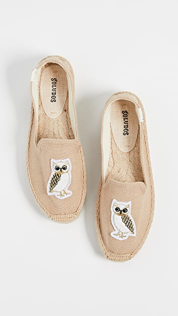 Soludos Gilded Owl Smoking Slippers