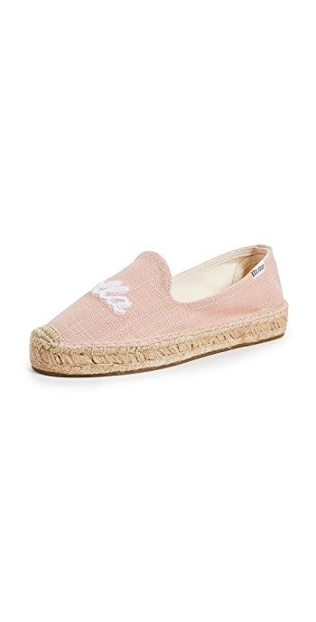 Soludos Ciao Bella Smoking Slippers - Dusty Rose