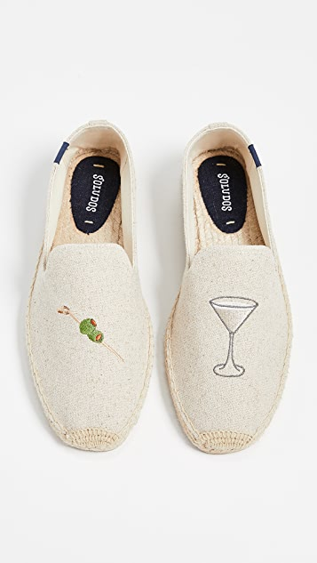 Soludos Dry Martini Smoking Slippers