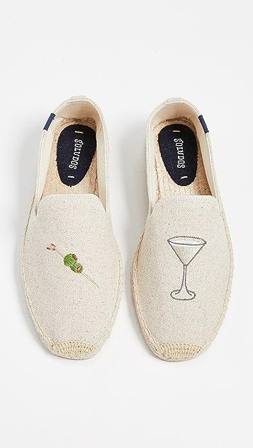 Soludos Dry Martini Smoking Slippers