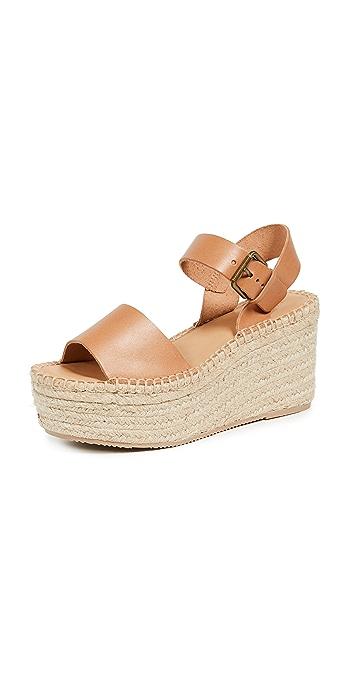 Soludos Minorca High Platform Sandals - Nude