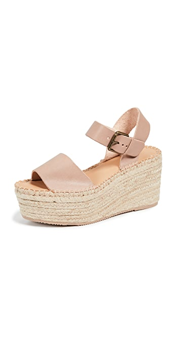 Soludos Minorca High Platform Sandals - Dove Gray