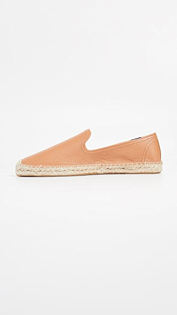 Soludos Leather Smoking Slippers