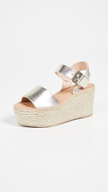 Soludos Minorca High Platform Sandals - Platinum