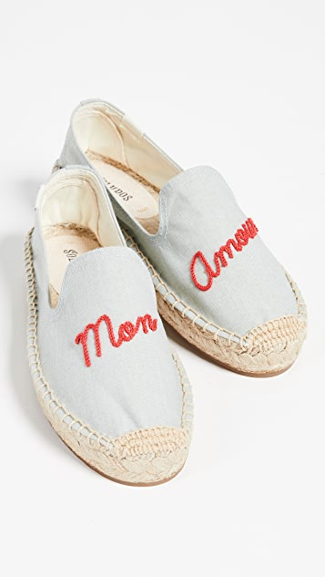 Soludos Mon Amour Smoking Slippers - Chambray