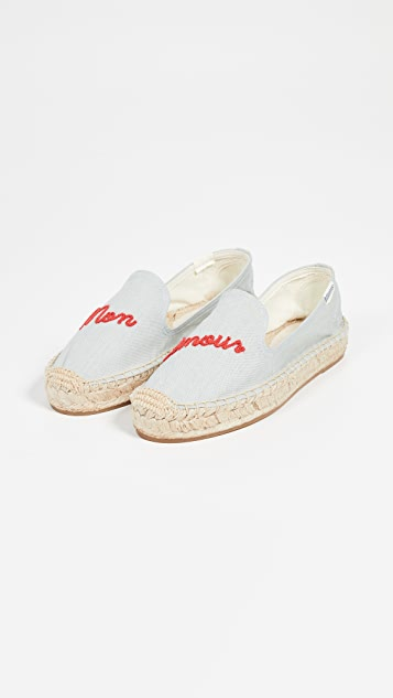 Soludos Mon Amour Smoking Slippers