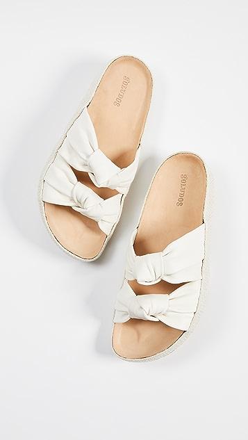 Soludos 夏日结饰凉拖鞋