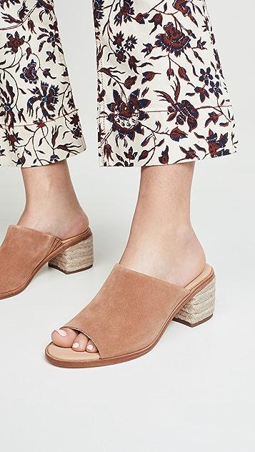 Soludos Capri Block Heel Mules - Tan