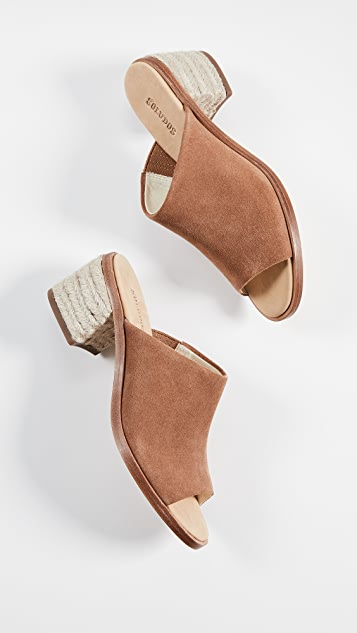 Soludos Туфли без задников Capri на квадратном каблуке