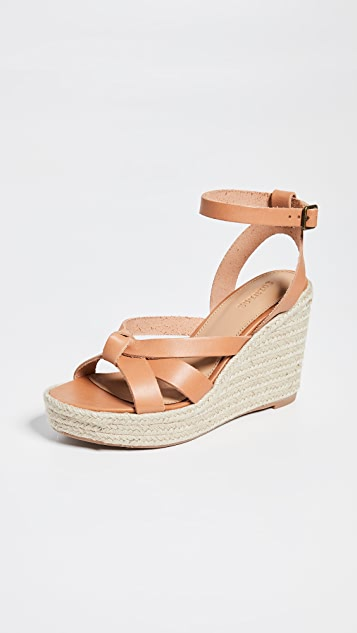 Soludos Charlotte Wedge Espadrilles - Nude