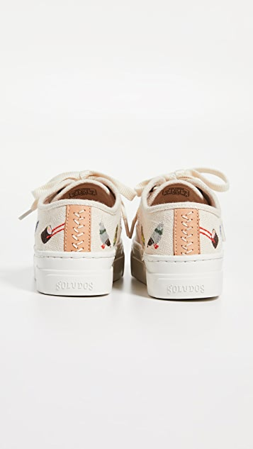 Soludos Embroideried Porto Sneakers