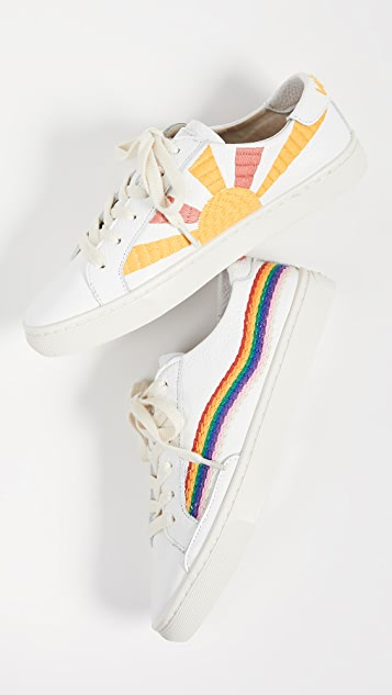 Rainbow Wave Sneakers by Soludos
