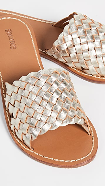 Soludos Woven Slide Sandals