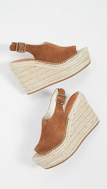 Soludos Sevilla 编织厚底坡跟鞋