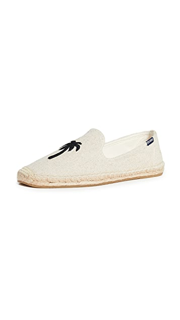 Soludos Palm Tree Smoking Slippers