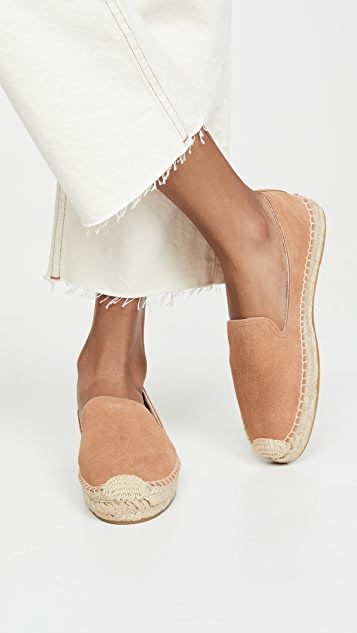 Soludos Suede Platform Smoking Slippers