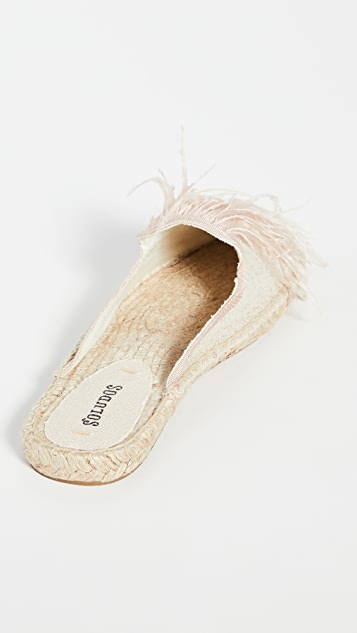 Soludos Feathers 穆勒鞋