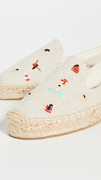 Soludos Swimmers 厚底编织鞋